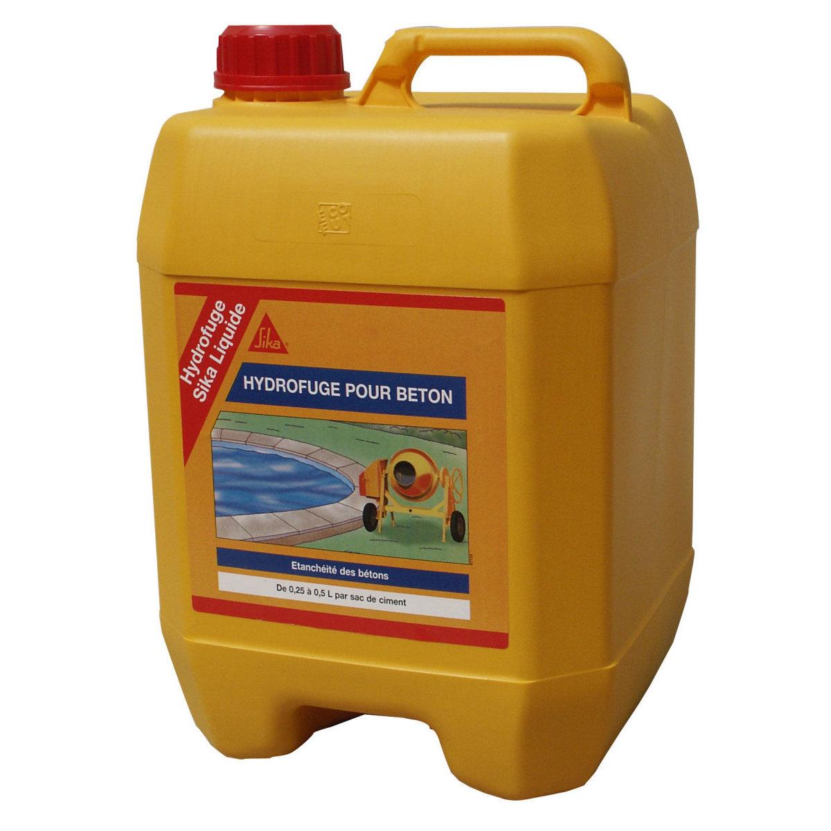 Hydrofuge liquide b ton mortier sika for Hydrofuge sika liquide